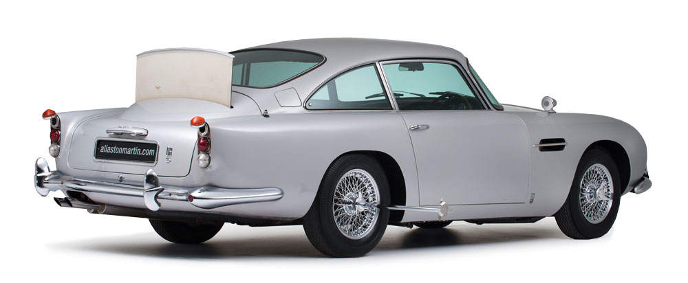 Aston Martin made wealthy James Bond fans dreams come true by recreating 25 of its classic silver birch DB5 marques complete with 007's gadgets for $3.5 million each – Ph: Courtesy of allastonmartin.com and Byron International