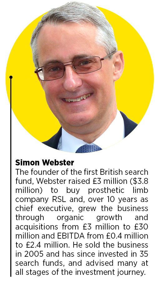 Simon Webster, the founder of the first British search fun