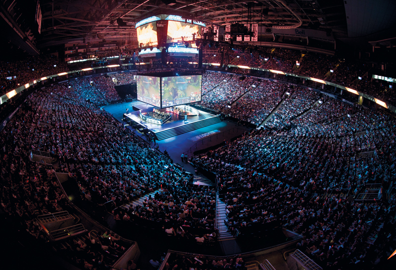 Gamers compete for $20 million in prize money at the Dota 2 International tournament
