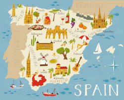 Spanish family businesses map