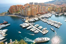 Monaco marina, where the average annual mooring fee is $87,500