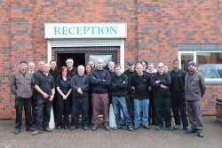 The Fracino team outside their new offices