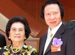 Kwong Siu-hing and her son Thomas