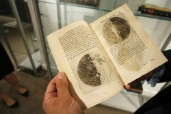 A book with sketches of the moon by Galileo Galilei
